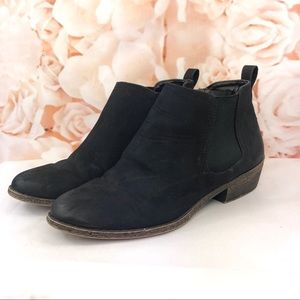 Merona ankle boots Booties black short heel size 8
